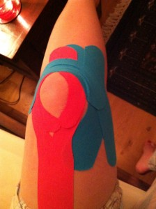 When the knee brace comes off, the sports tape goes on!