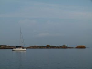 Australian boat in the early morning sun.