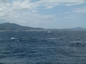 Lively seas in Ria Muros
