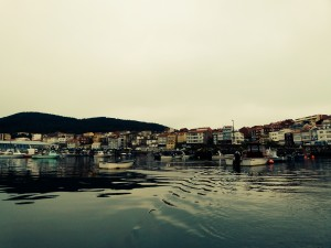 The pretty colours of Finisterre Harbour